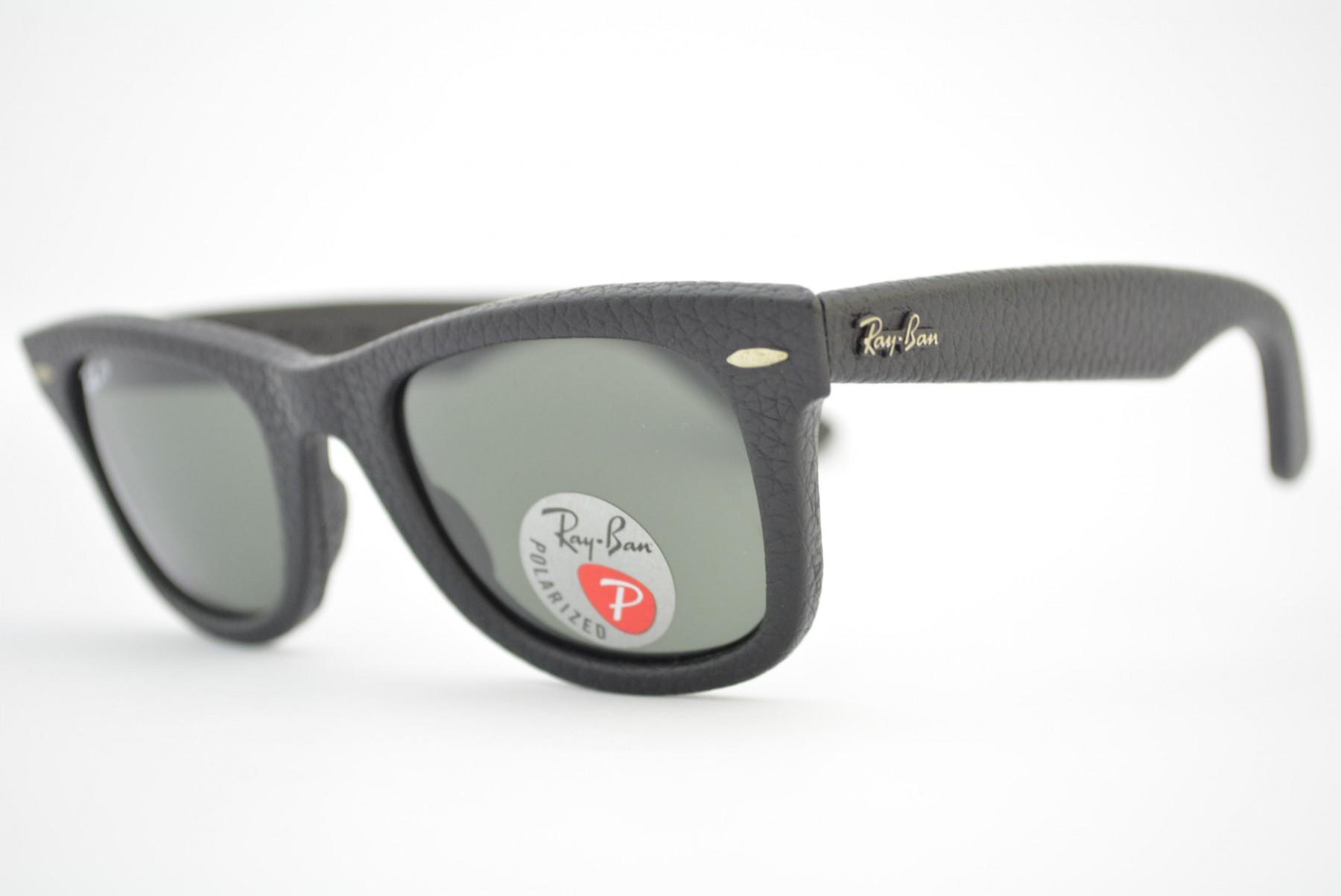 e4710fbe6 Mais Imagens. óculos de sol Ray Ban WAYFARER Leather mod rb2140-Q-M 1152/N5  Polarizado