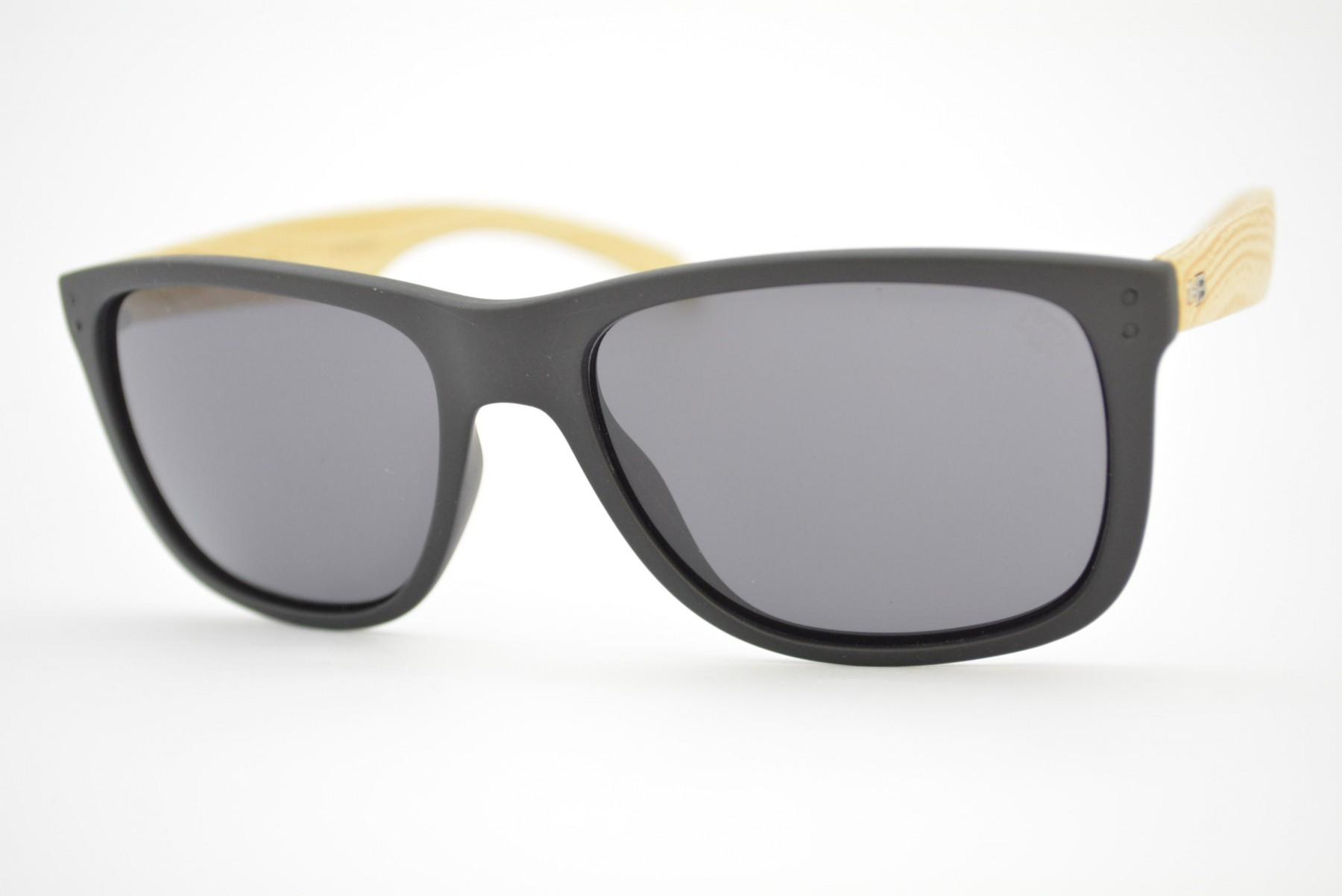 203214149 óculos de sol HB mod Ozzie matte black wood gray 90140731. Código: 90140731