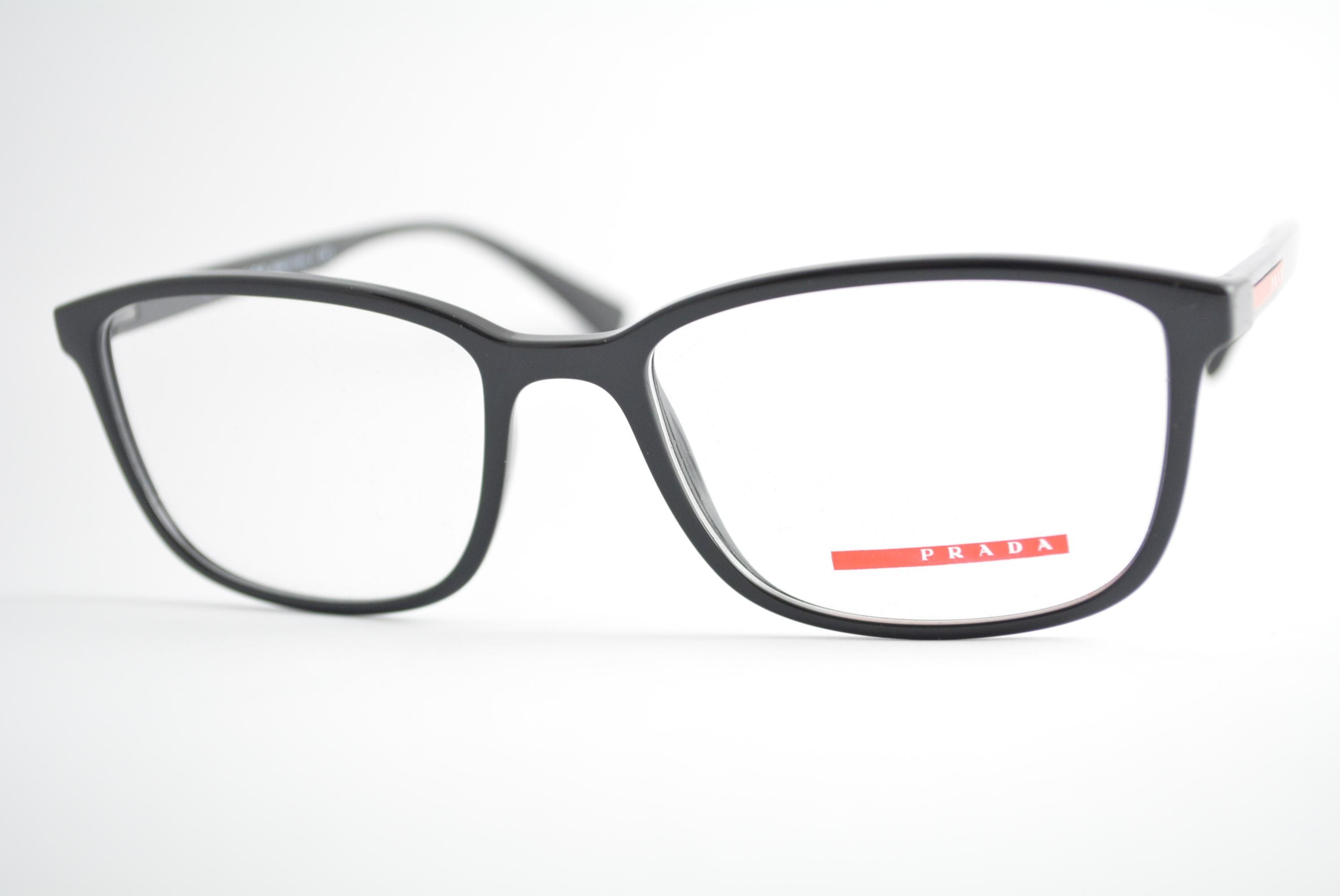 69304da1a54c8 armação de óculos Prada Linea Rossa mod vps04I 1AB-1O1 Ótica Cardoso