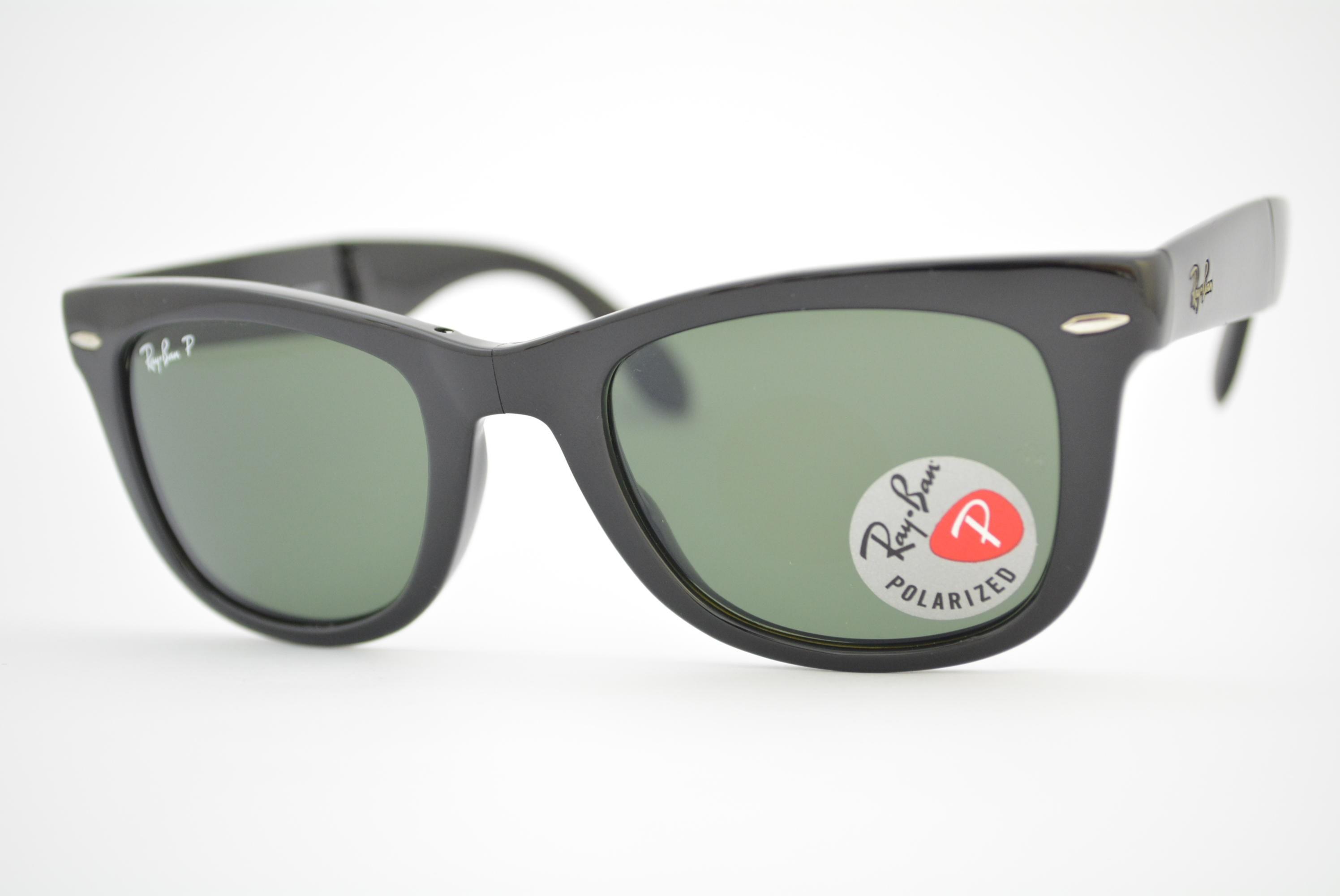 dd5f68308fc07 óculos de sol Ray Ban Wayfarer folding mod rb4105 601 58 Polarizado ...