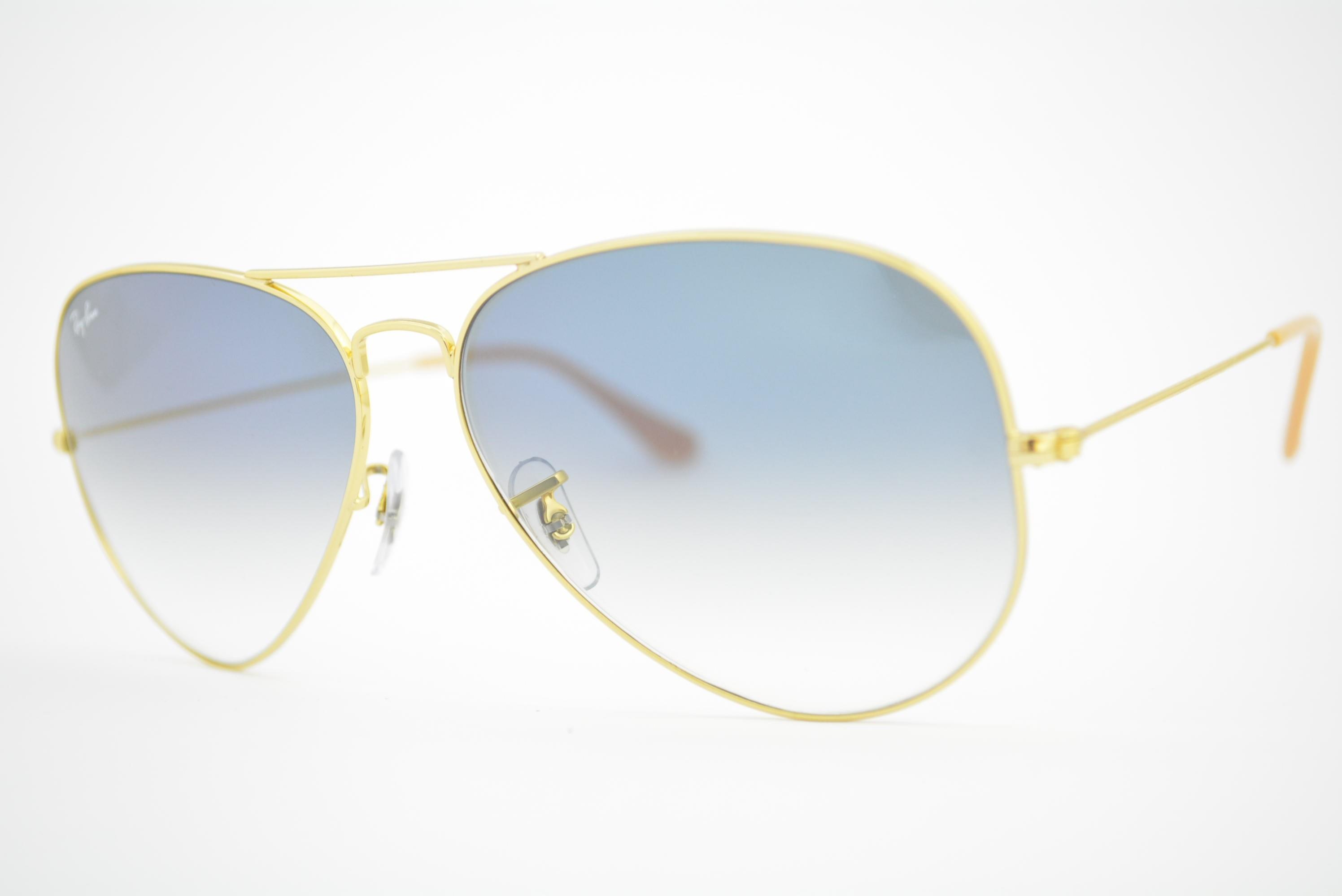5e9ec1592f7af óculos de sol Ray Ban aviator large mod rb3025L 001 3F tamanho 62 ...
