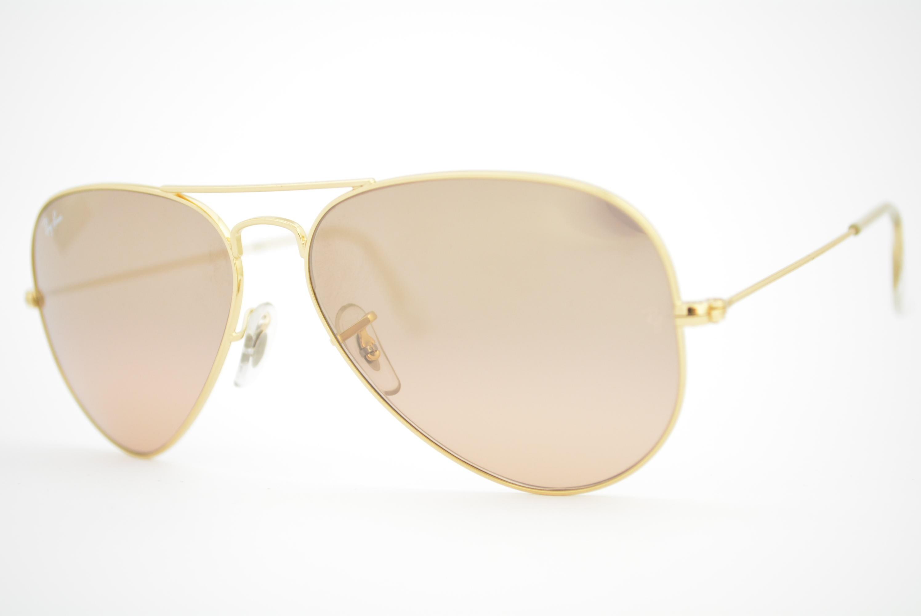 óculos de sol Ray Ban aviator large mod rb3025 001 3E tamanho 58 ... 280a711a54