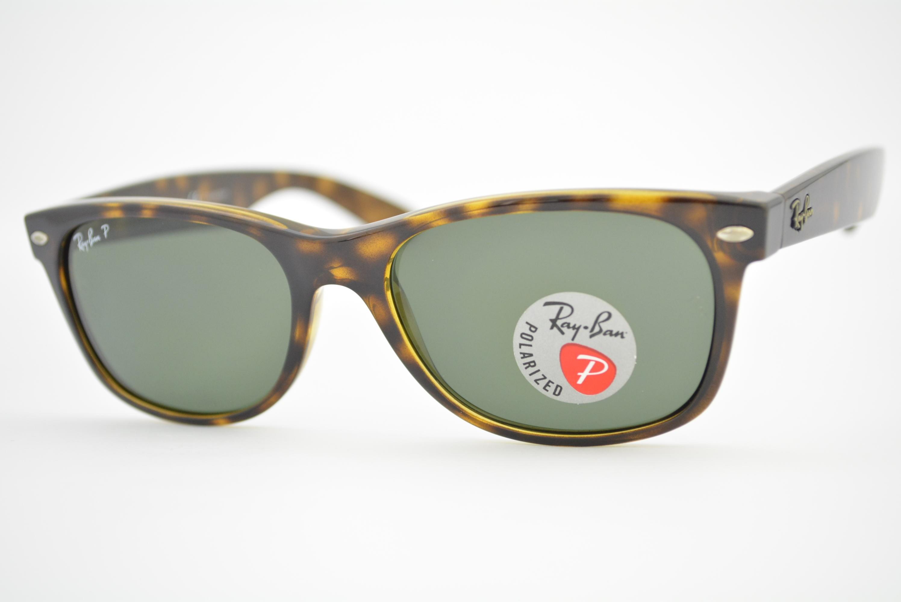 7857848ceb674 óculos de sol Ray Ban New Wayfarer mod rb2132 902 58 Polarizado tamanho 55