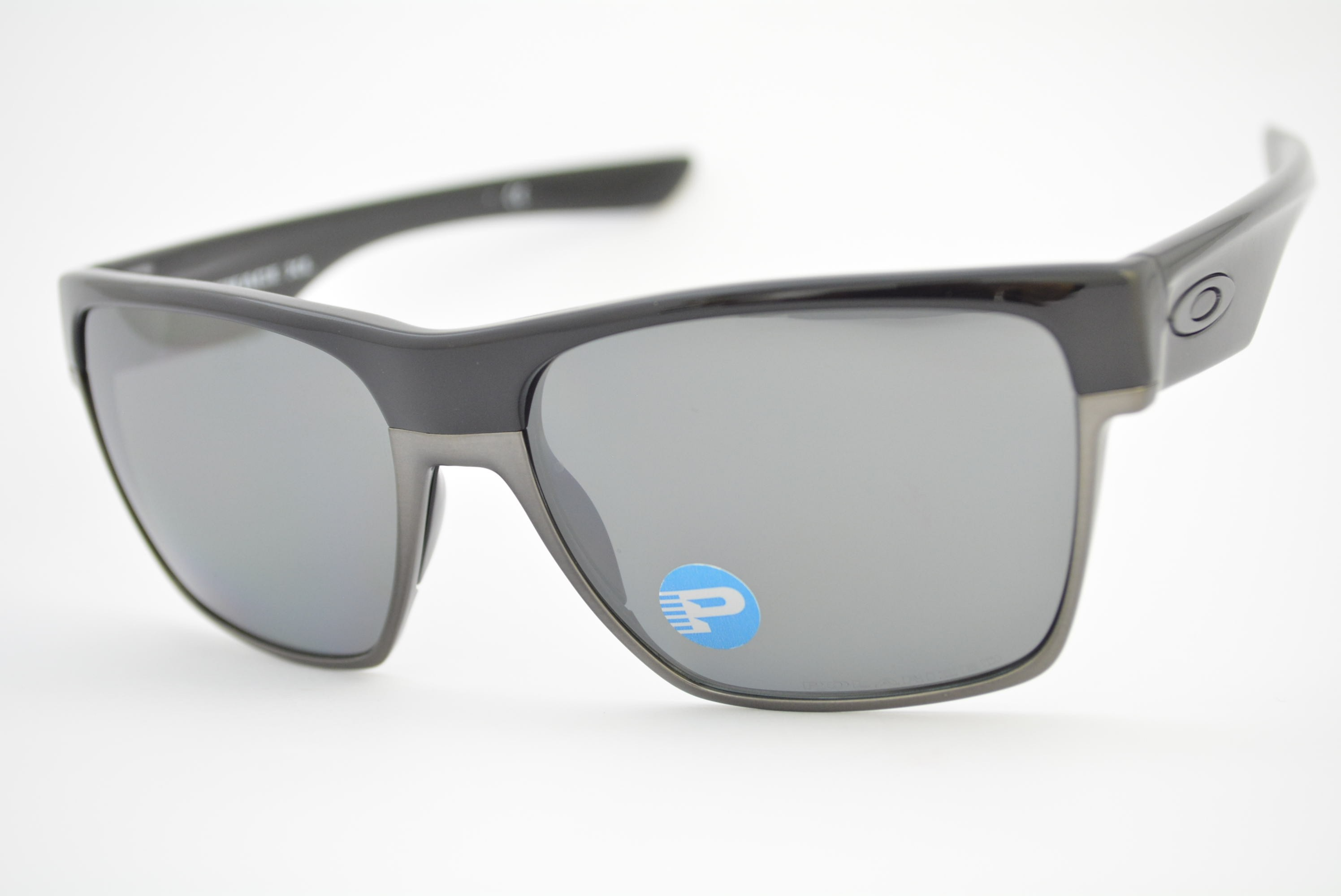 b22d429e4240c óculos de sol Oakley mod Two Face XL polished black w black iridium  polarized 009350
