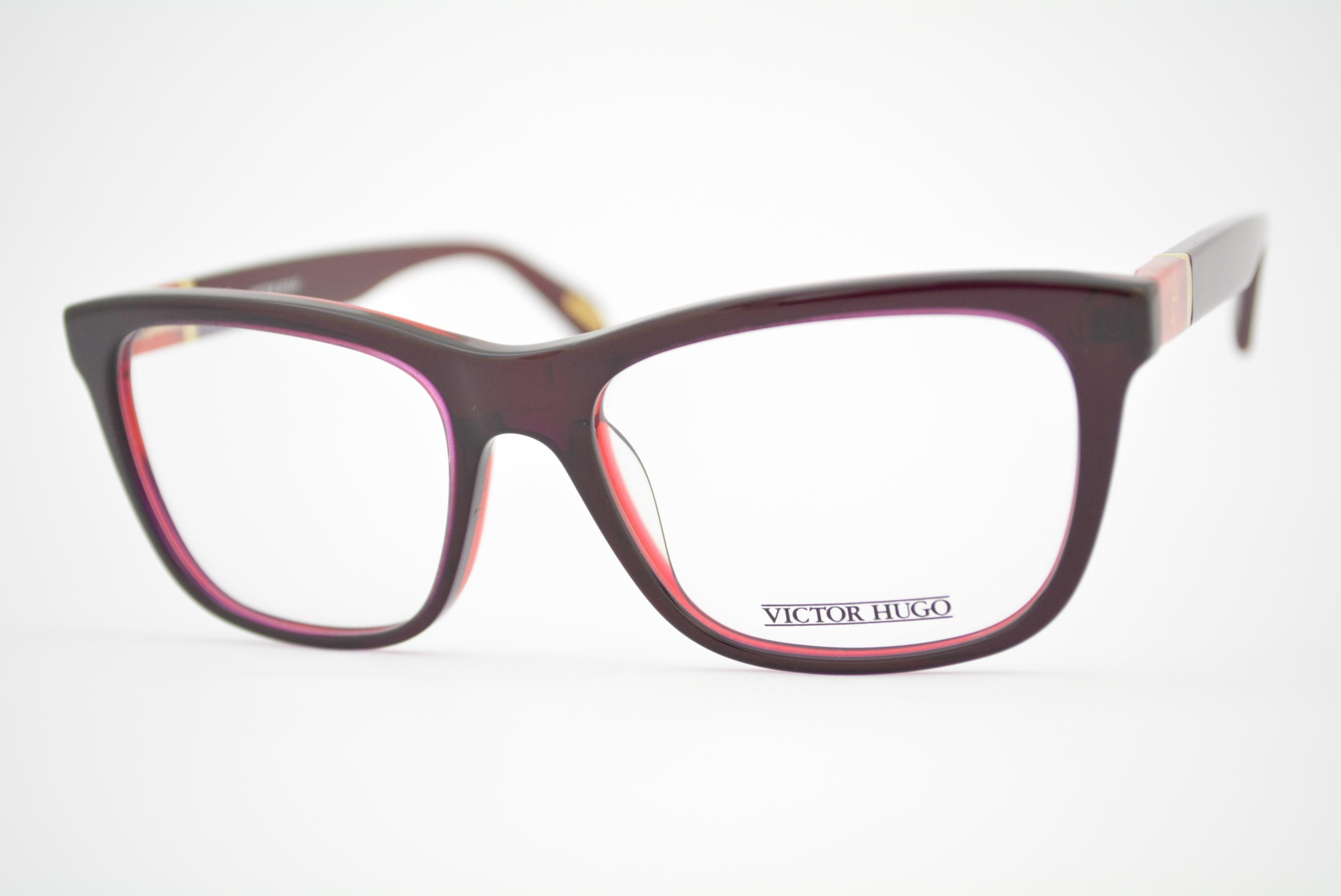 30c631408168f armação de óculos Victor Hugo mod vh1685 col.01FA Ótica Cardoso