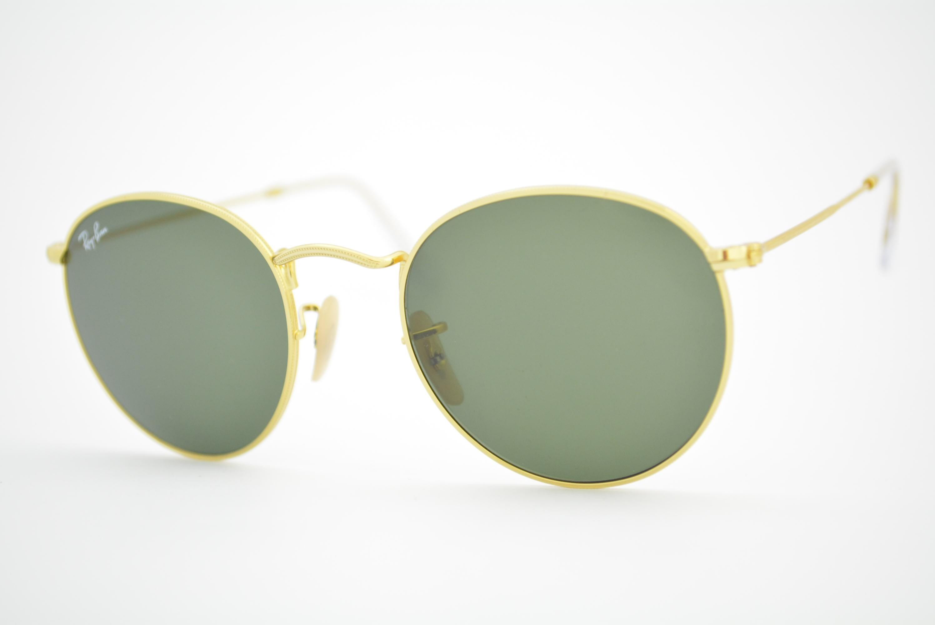 0cec92224 ... hot óculos de sol ray ban round metal mod rb3447 001 tamanho 53 55909  34136