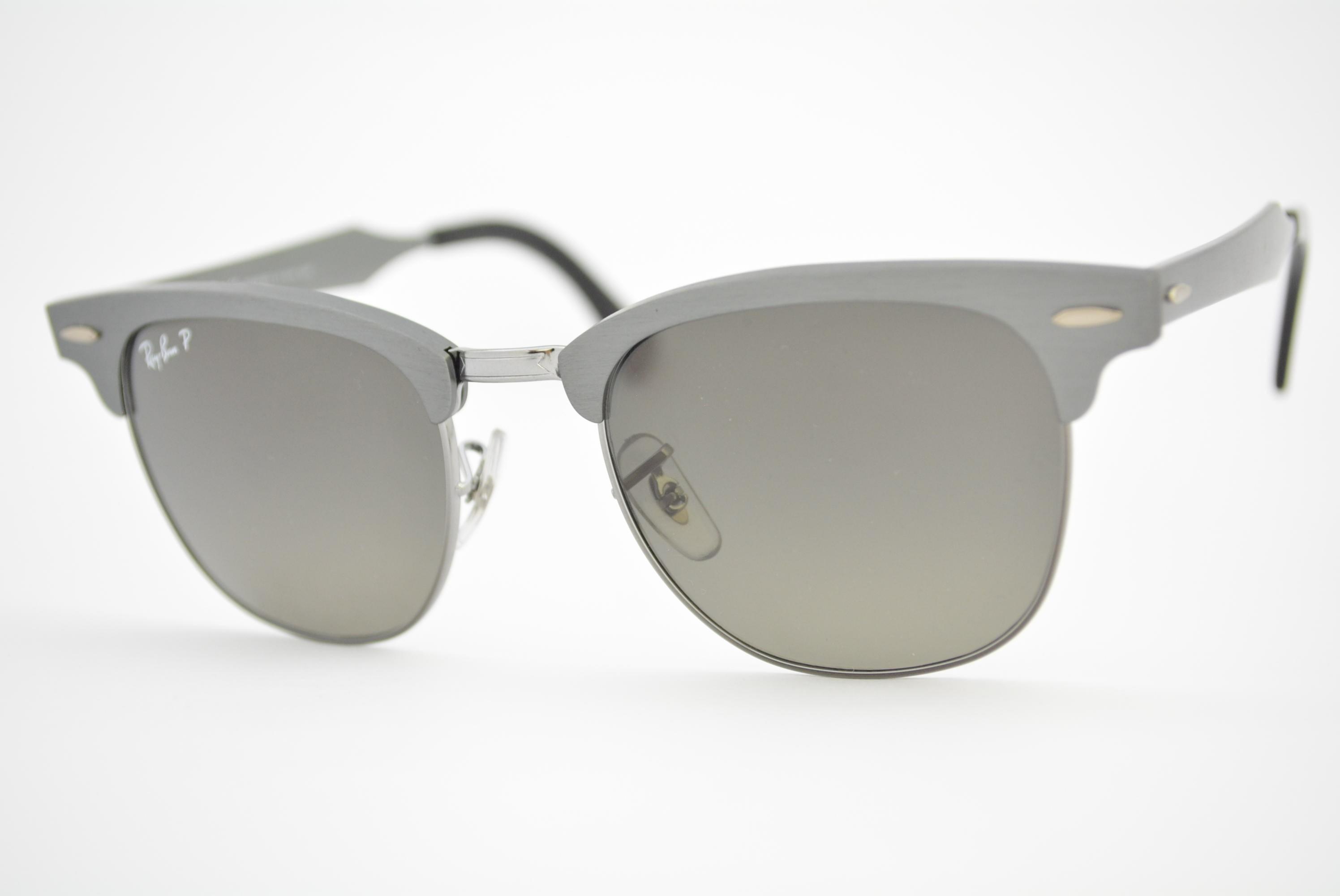óculos de sol Ray Ban Clubmaster Aluminium mod rb3507 138/M8