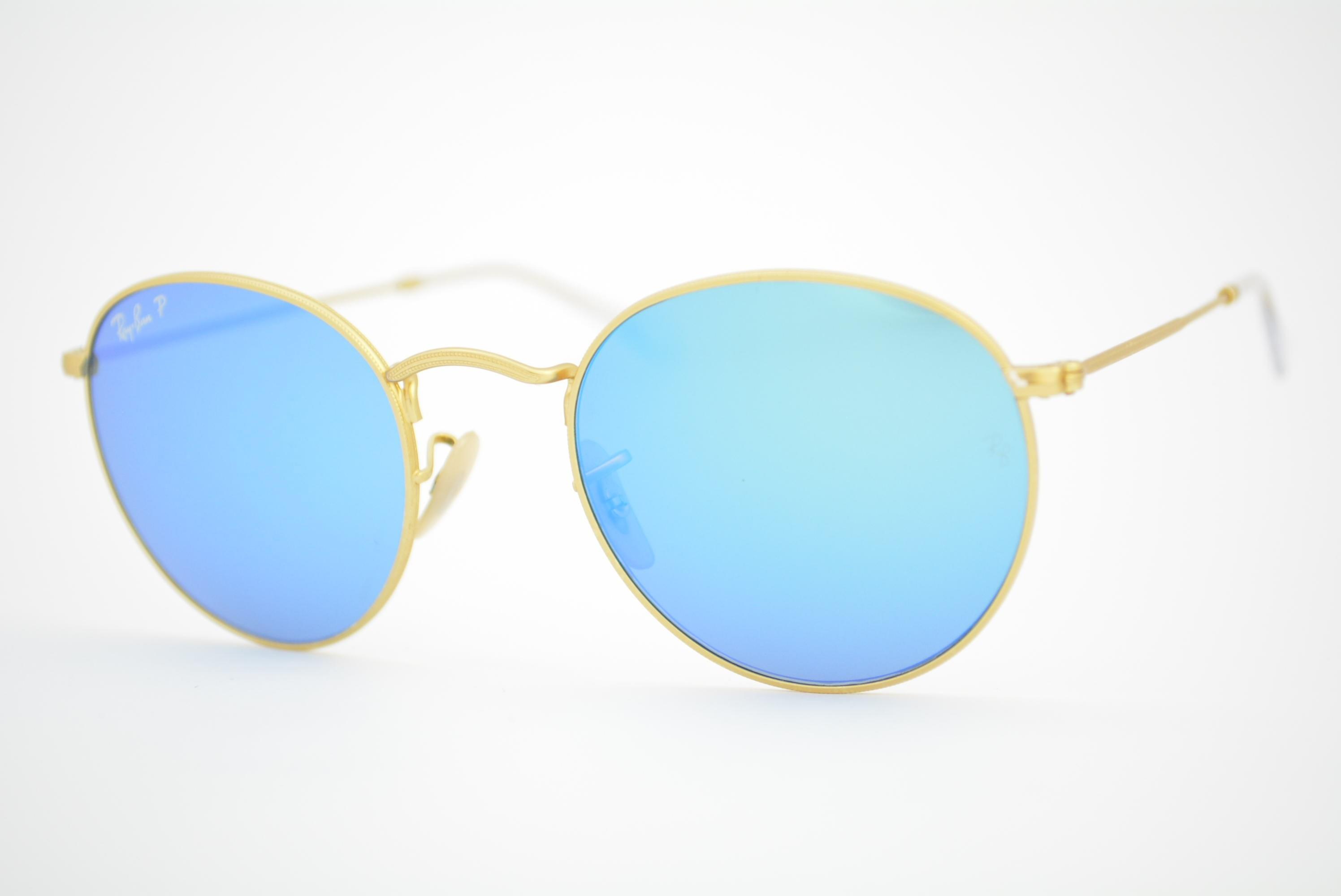 00478b5180cc9 óculos de sol Ray Ban Round metal mod rb3447 112 4L Polarizado Ótica ...