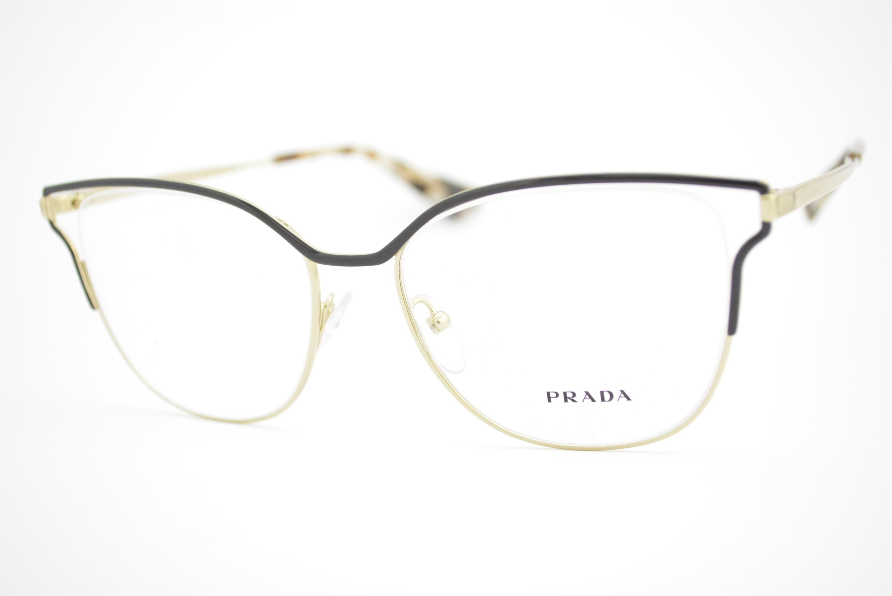 armação de óculos Prada mod vpr54U QE3-1O1 Ótica Cardoso fbdb00d64e