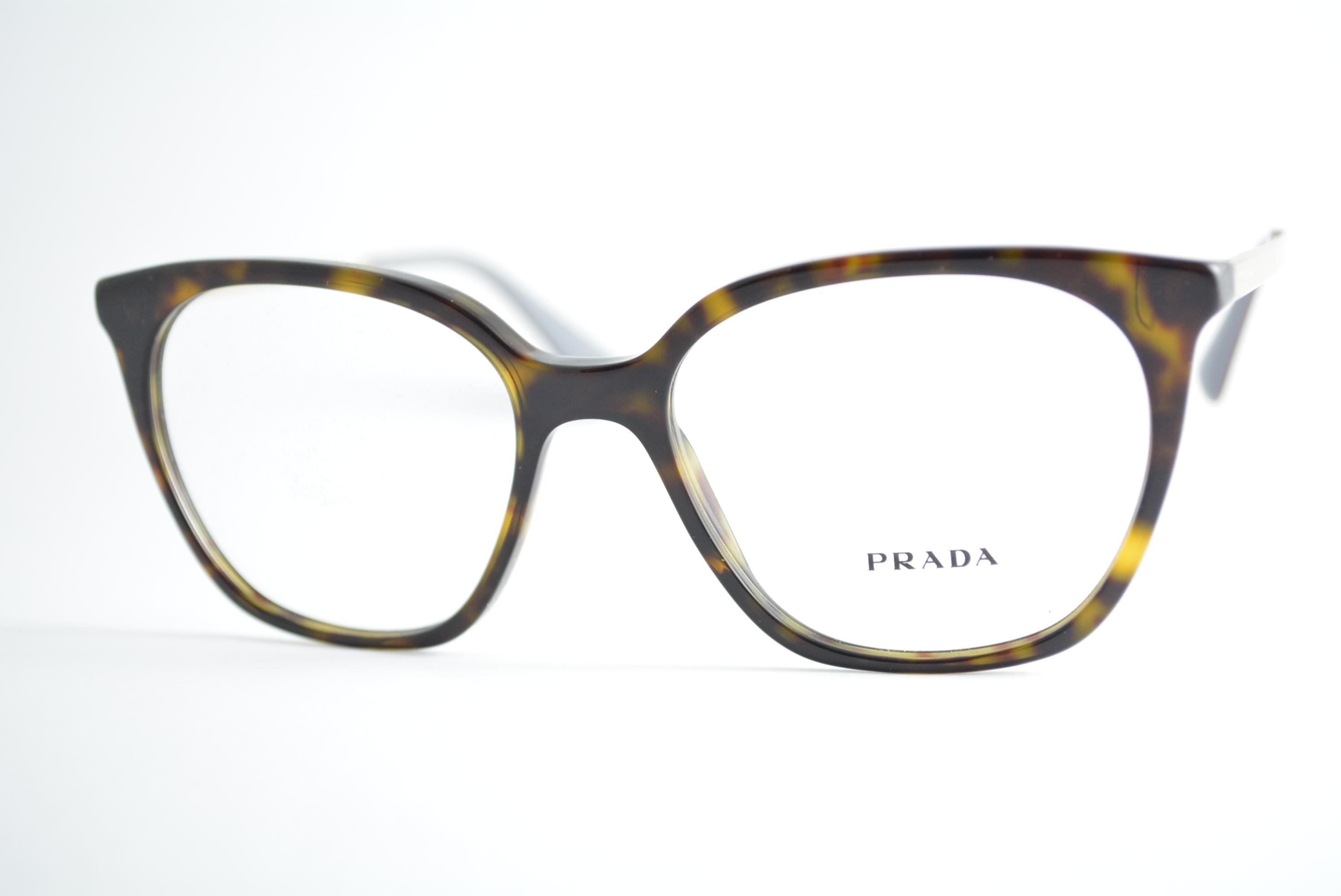 7702861d7 armação de óculos Prada mod vpr11T 2AU-1O1 Ótica Cardoso