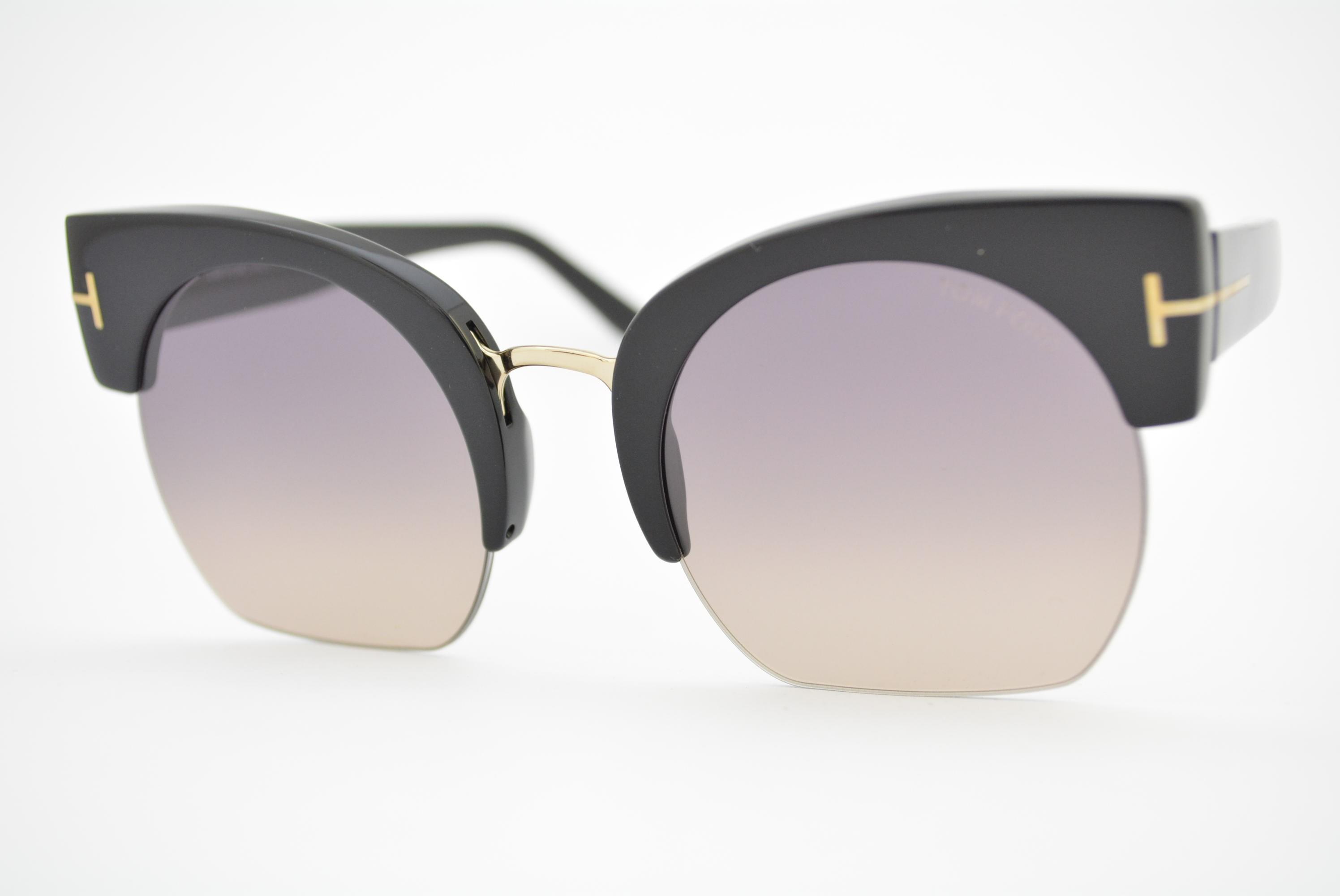 55ef2ede0e541 óculos de sol Tom Ford mod Savannah-02 TF552 01B Ótica Cardoso