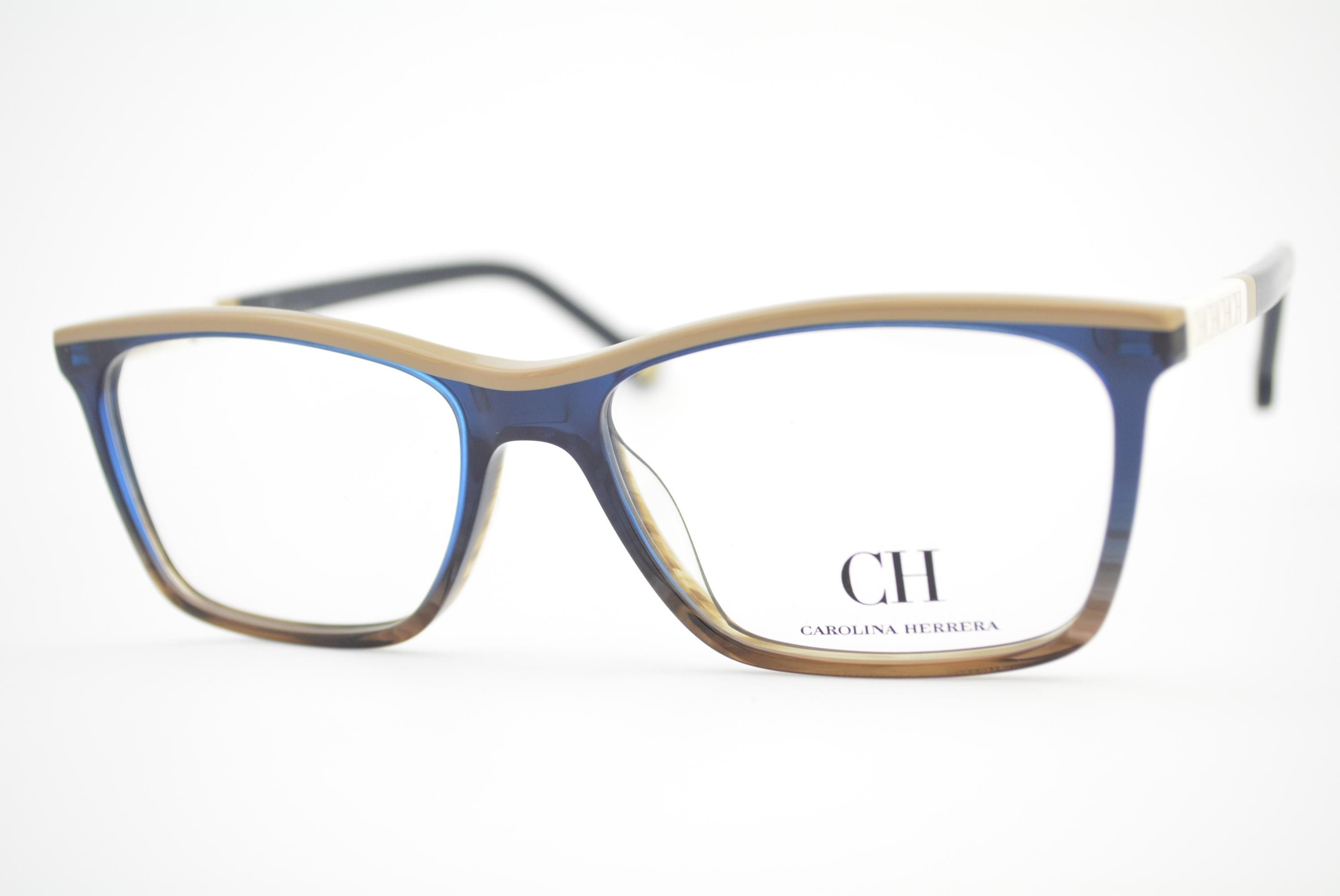 armação de óculos Carolina Herrera mod vhe586 col.0M61 Ótica Cardoso 5fef9ef86d