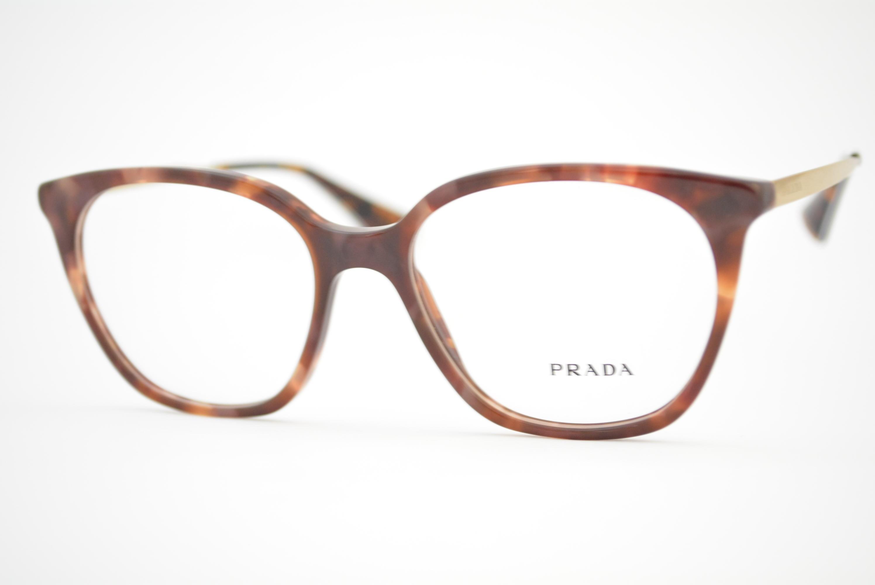 5372c276d armação de óculos Prada mod vpr11T UE0-1O1 Ótica Cardoso