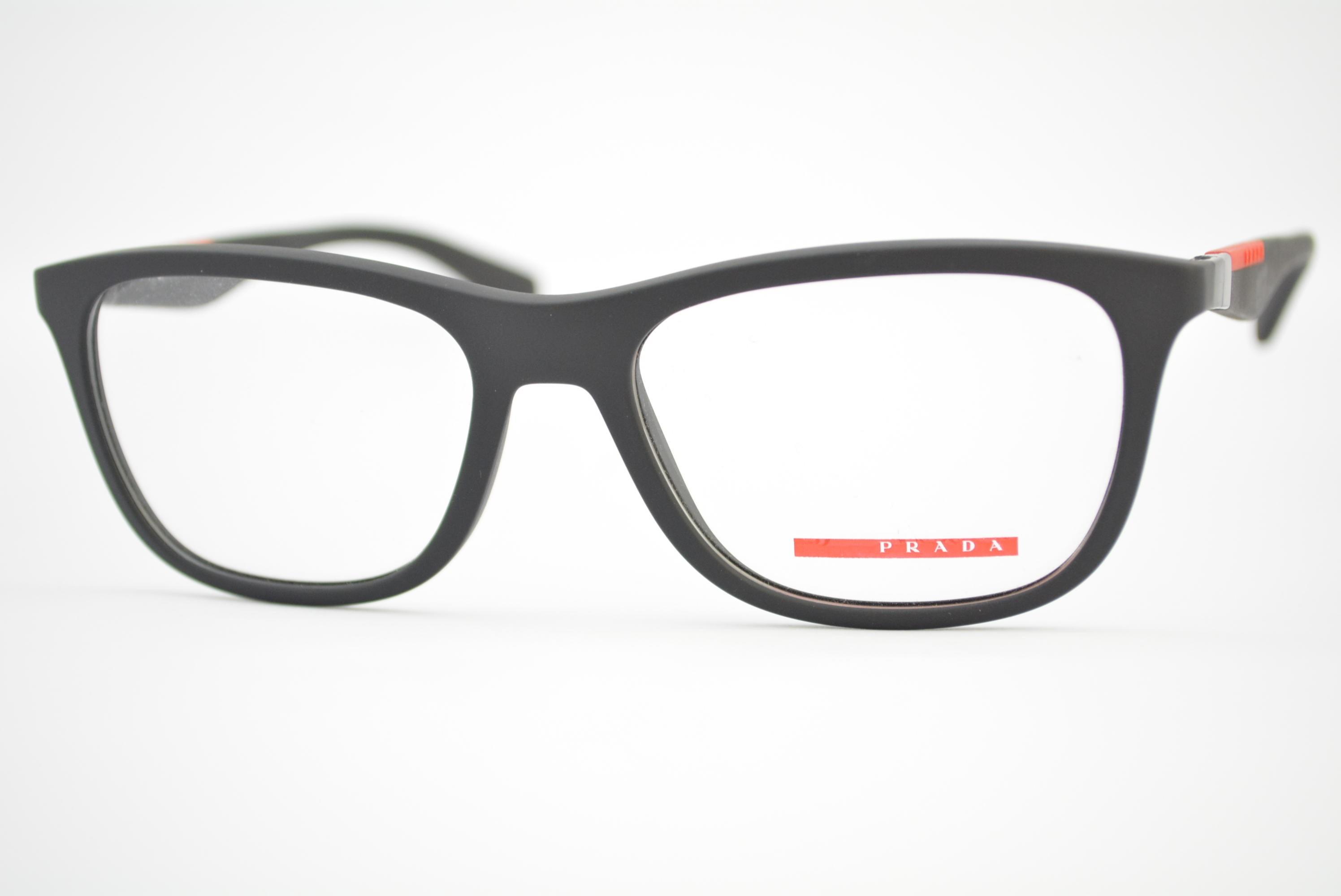 eb14a7fb9bf61 armação de óculos Prada Linea Rossa mod vps04F DG0-1O1 Ótica Cardoso