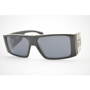 óculos de sol Evoke Bomber black temple white silver gray total