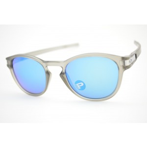 ea9398a33483c óculos de sol Oakley mod Latch matte grey w sapphire iridium polarized  009265-08