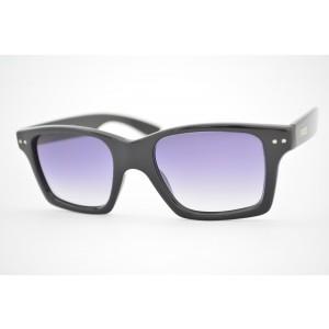 óculos de sol Evoke Trigger black shine silver gray gradient