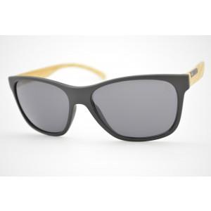 óculos de sol HB mod Undergroud matte black wood w/gray lenses 90114731