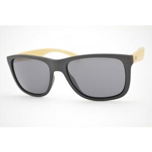 óculos de sol HB mod Ozzie matte black wood gray 90140731