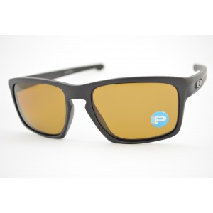 óculos de sol Oakley mod Sliver matte black w/brown polarized 009262L-08