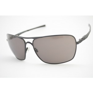 óculos de sol Oakley mod Plaintiff Squared polished black w/warm grey 004063L-01