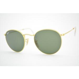 óculos de sol Ray Ban Round metal mod rb3447 001 tamanho 53