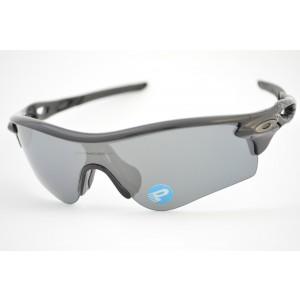 óculos de sol Oakley mod Radarlock polished black w/black iridium polarized 9181-12