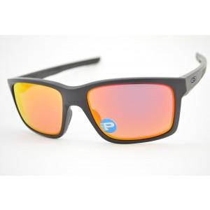 0206015b96aa5 óculos de sol Oakley mod Mainlink matte black w ruby iridium polarized  009264-07