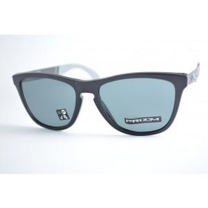 797e5d8e008d2 óculos de sol Oakley mod Frogskins mix matte black w prizm grey 9428-0155
