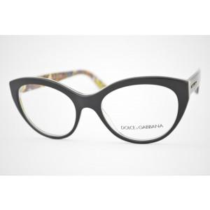 armação de óculos Dolce & Gabbana mod DG3246 3033 Sicilian Collection